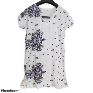 *3/$85* Unisex Tunic shirt airy summer paisley S-M